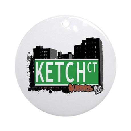 KETCH COURT, QUEENS, NYC Ornament (Round)