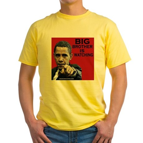 Big Brother - Obama Yellow T-Shirt