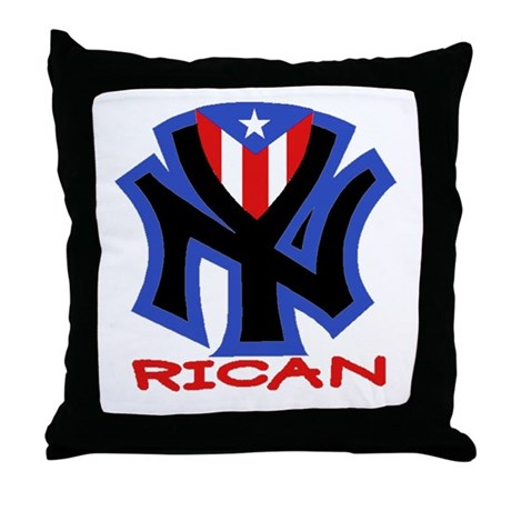 NY RICAN Throw Pillow
