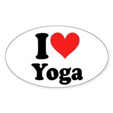 I Heart Yoga: Oval Decal