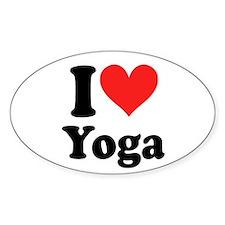 I Heart Yoga: Oval Decal