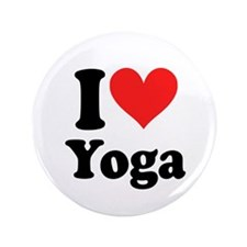 "I Heart Yoga: 3.5"" Button (10 pack)"