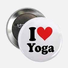 """I Heart Yoga: 2.25"""" Button (10 pack)"""