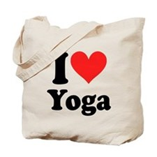 I Heart Yoga: Tote Bag