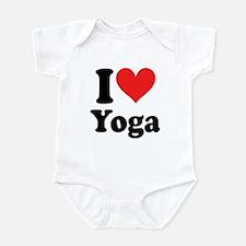 I Heart Yoga: Infant Bodysuit