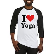 I Heart Yoga: Baseball Jersey