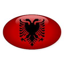 Albania Oval Decal