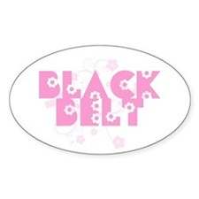 Pink Floral Black Belt Decal