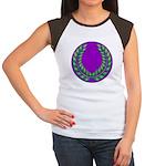 Purple with green laurel Women's Cap Sleeve T-Shir
