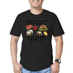 Eating Habits Men's Fitted T-Shirt (dark)