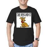 Dog Did It Men's Fitted T-Shirt (dark)