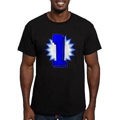 """1"" Men's Fitted T-Shirt (dark)"