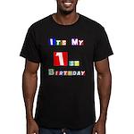 My 1st Birthday Men's Fitted T-Shirt (dark)