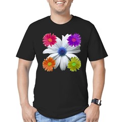 Daisies Men's Fitted T-Shirt (dark)