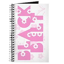 Pink Floral Black Belt Journal