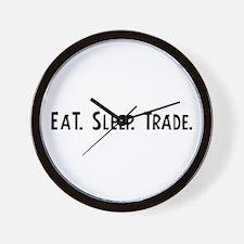 Eat, Sleep, Trade Wall Clock
