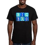 Big Bro (Blue/Green) Men's Fitted T-Shirt (dark)