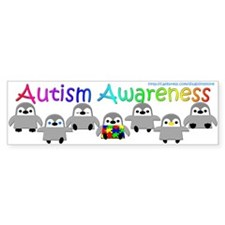Autism Awareness Penguins Bumper Sticker (50 pk)