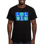Lil Bro (Blue/Green) Men's Fitted T-Shirt (dark)