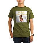 Golden Retriever Organic Men's T-Shirt (dark)