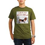 Basset Hound Organic Men's T-Shirt (dark)