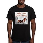 Basset Hound Men's Fitted T-Shirt (dark)