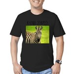 Racing Stripes Men's Fitted T-Shirt (dark)