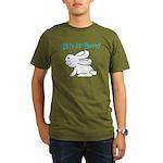 B is for Bunny Organic Men's T-Shirt (dark)
