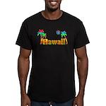 Hawaii Tropics Men's Fitted T-Shirt (dark)