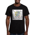 Grandpa Rocks 2 Men's Fitted T-Shirt (dark)