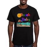 Beach Baby Men's Fitted T-Shirt (dark)