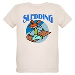 Sledding Organic Kids T-Shirt