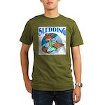 Sledding Organic Men's T-Shirt (dark)