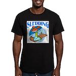 Sledding Men's Fitted T-Shirt (dark)