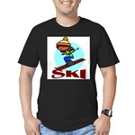 Ski Men's Fitted T-Shirt (dark)