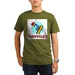 Snowboard Organic Men's T-Shirt (dark)