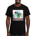 Snowboard Men's Fitted T-Shirt (dark)