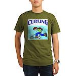 Curling Organic Men's T-Shirt (dark)
