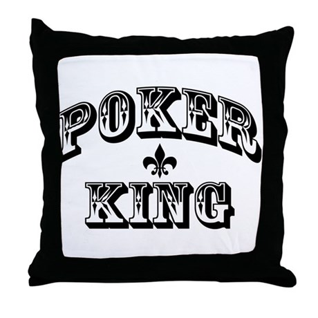 Poker King Throw Pillow