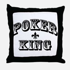 Poker King Throw Pillow