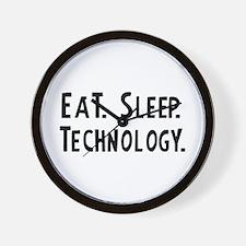 Eat, Sleep, Technology Wall Clock