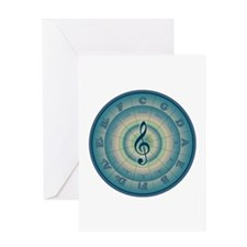 Colorful Circle of Fifths Greeting Card