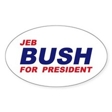 Jeb Bush for President Oval Decal