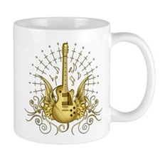 Golden Winged Guitar Mug