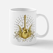 Golden Winged Guitar Mug