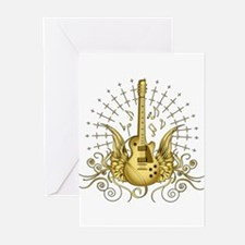Golden Winged Guitar Greeting Cards (Pk of 20)