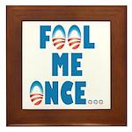 Fool Me Once... Framed Tile