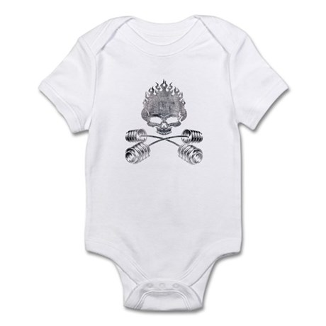 BARBELL CROSSBONES Infant Bodysuit