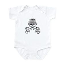 BARBELL CROSSBONES Infant Bodysuit