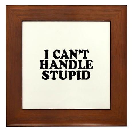 Can't Handle Stupid Framed Tile